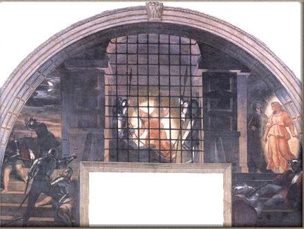 Рафаэль. Освобождение св. Петра из тюрьмы St Peter being freed from prison by Raphael