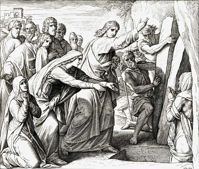Ю.Ш. фон Карольсфельд. Воскрешение Лазаря Resurrection of Lazarus by Julius Schnorr von Carolsfeld
