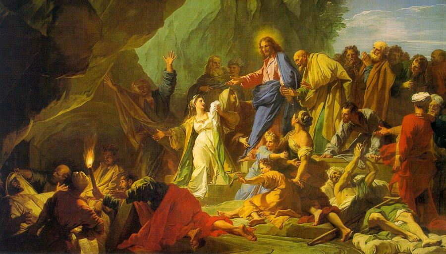 Ж.-Б. Жовенет. Воскрешение Лазаря Resurrection of Lazarus by Jean-Baptiste Jouvenet