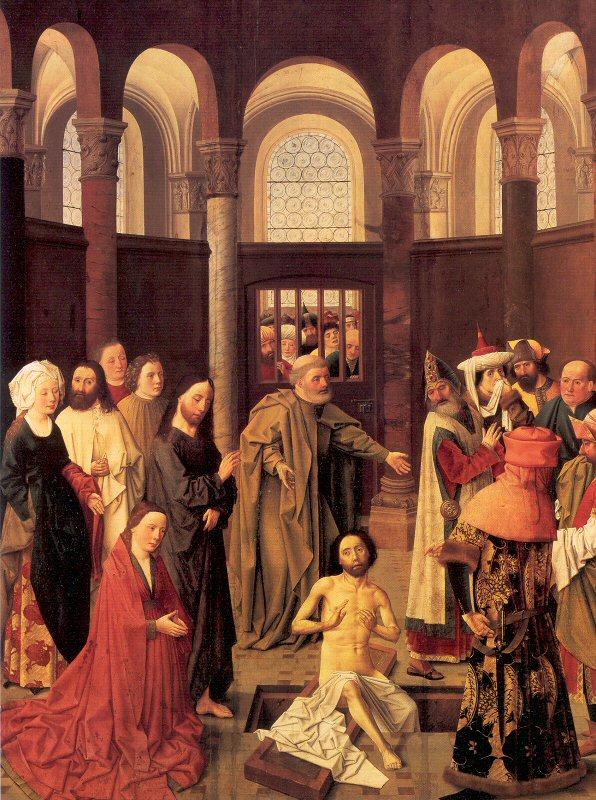 А. ван Оуватер. Воскрешение Лазаря Resurrection of Lazarus by Aelbert van Ouwater