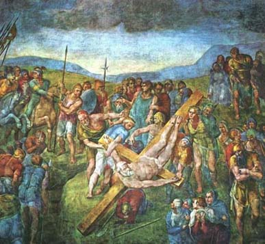 Микеланджело. Мученичество апостола Петра Martyrdom of St Peter by Michelangelo